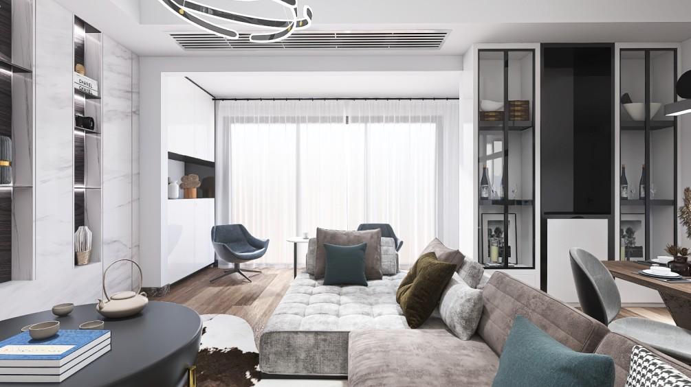 D+舒适现代打造温馨小家